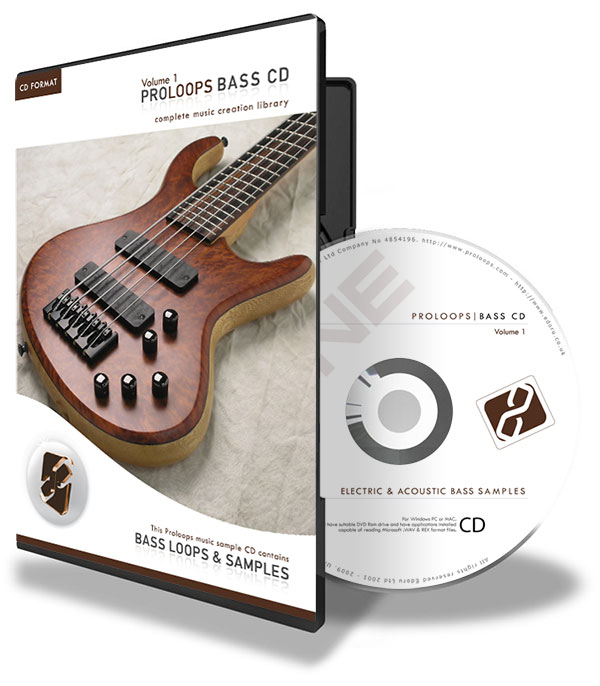 Acoustic and Electric Bass Loops CD vol 1