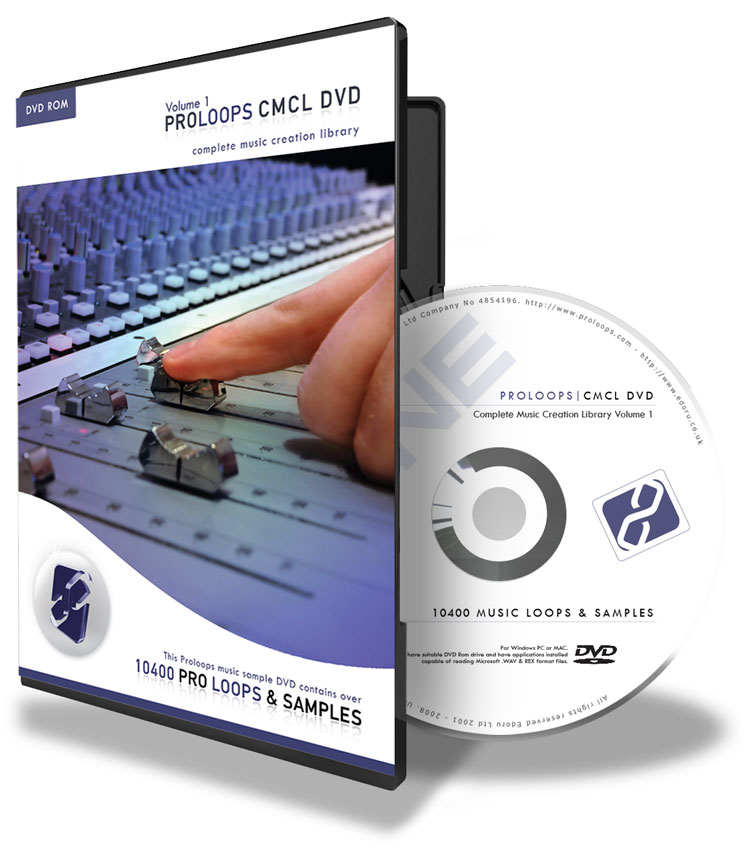 CMCL DVDv1 - 10400 Pro Loops and Samples on DVD