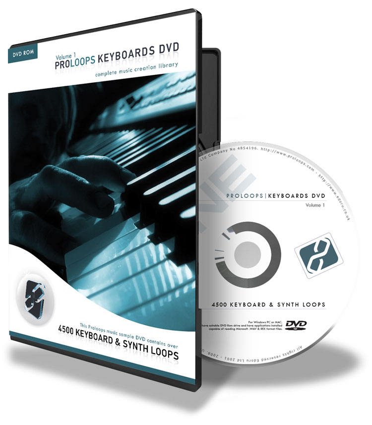 Keyboard, Synths and Piano loops DVD vol 1